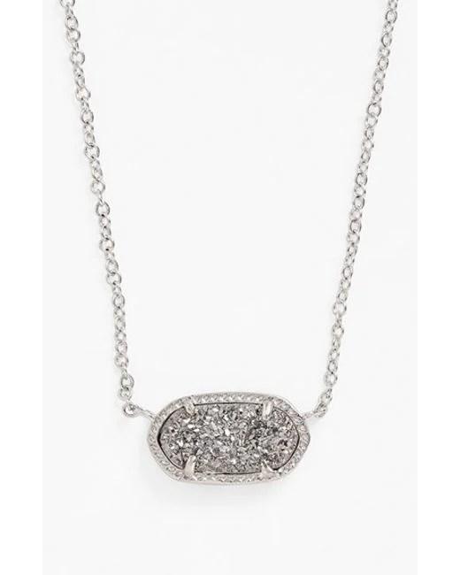 Kendra scott 'elisa' Pendant Necklace in Silver (silver