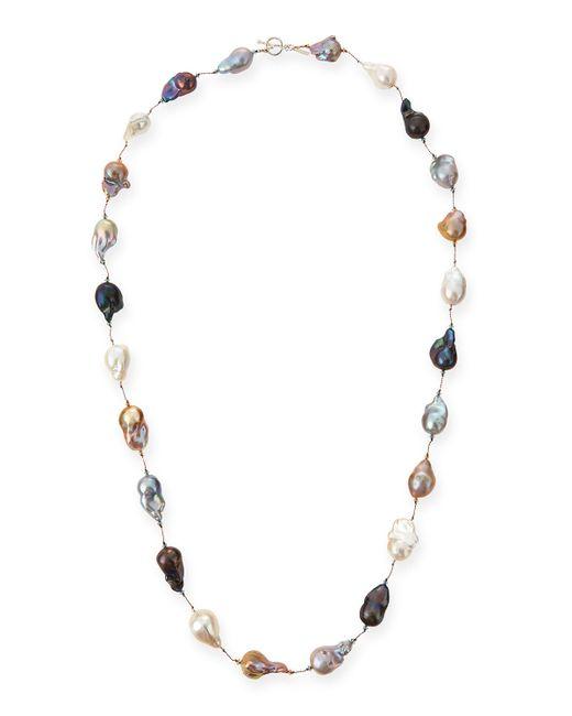 Margo morrison Multicolor Baroque Pearl Long Necklace in