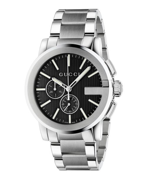 Gucci G Chrono Stainless Steel Watch In Metallic For Men