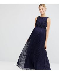 Lyst - Asos Wedding Pleated Maxi Dress With Ruched Detail ...