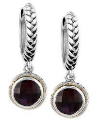 Effy collection Balissima By Effy Garnet Drop Earrings (4 ...