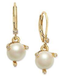 Kate spade new york Gold-tone Imitation Pearl Drop ...