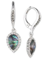 Judith jack Sterling Silver Abalone, Crystal And Marcasite ...