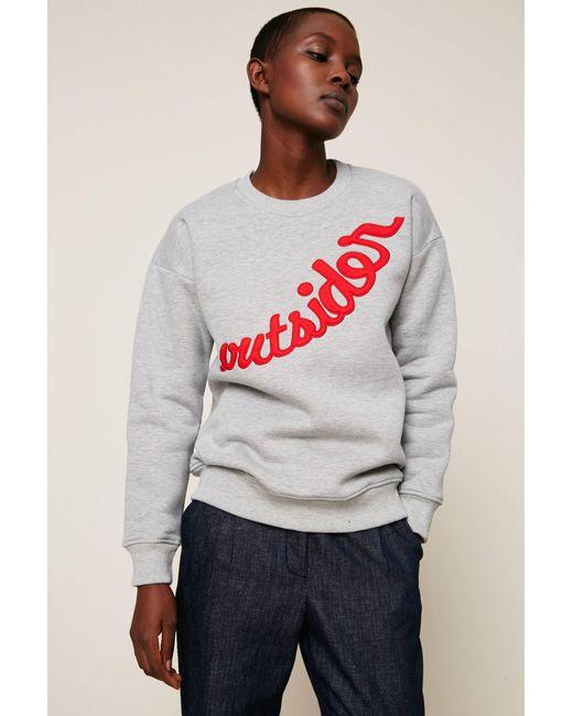 Valentine Gauthier Sweatshirt In Grey Lyst
