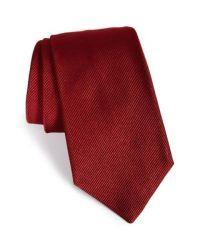 Gitman brothers vintage Solid Silk Tie in Red for Men   Lyst