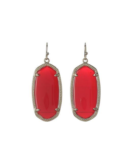 Kendra scott Elle Earring in Red