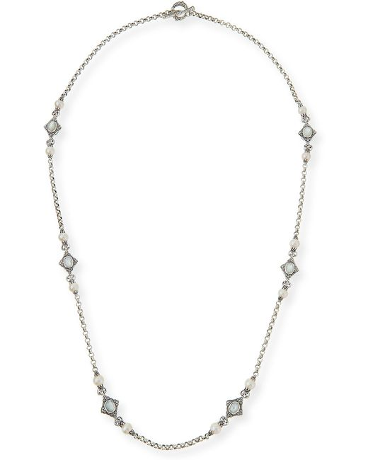 Konstantino Pearl & Mother-of-pearl Long Necklace in