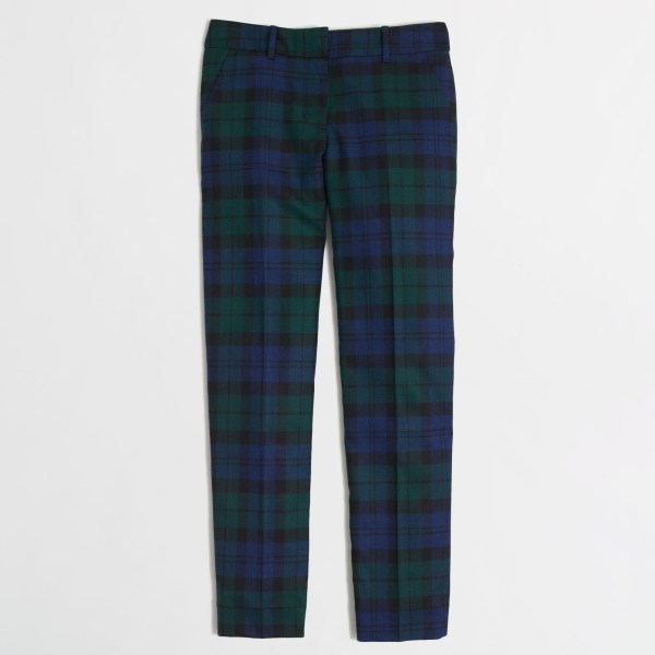 Lyst - .crew Factory Skimmer Pant In Black Watch Plaid