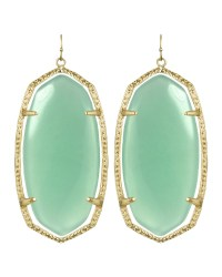 Kendra Scott Danielle Earrings in Gold (chalcedony) | Lyst
