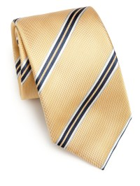 Saks fifth avenue collection Wide Stripe Silk Tie in ...