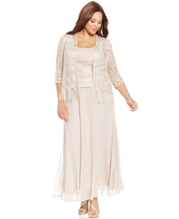 Lyst - Patra Size Crochet Popover Gown And Jacket In Natural
