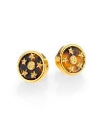 Lyst - Tory burch Dellora Star Stud Earrings in Metallic