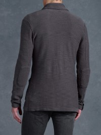 Lyst - John Varvatos Shawl Collar Sweater Jacket in Gray ...