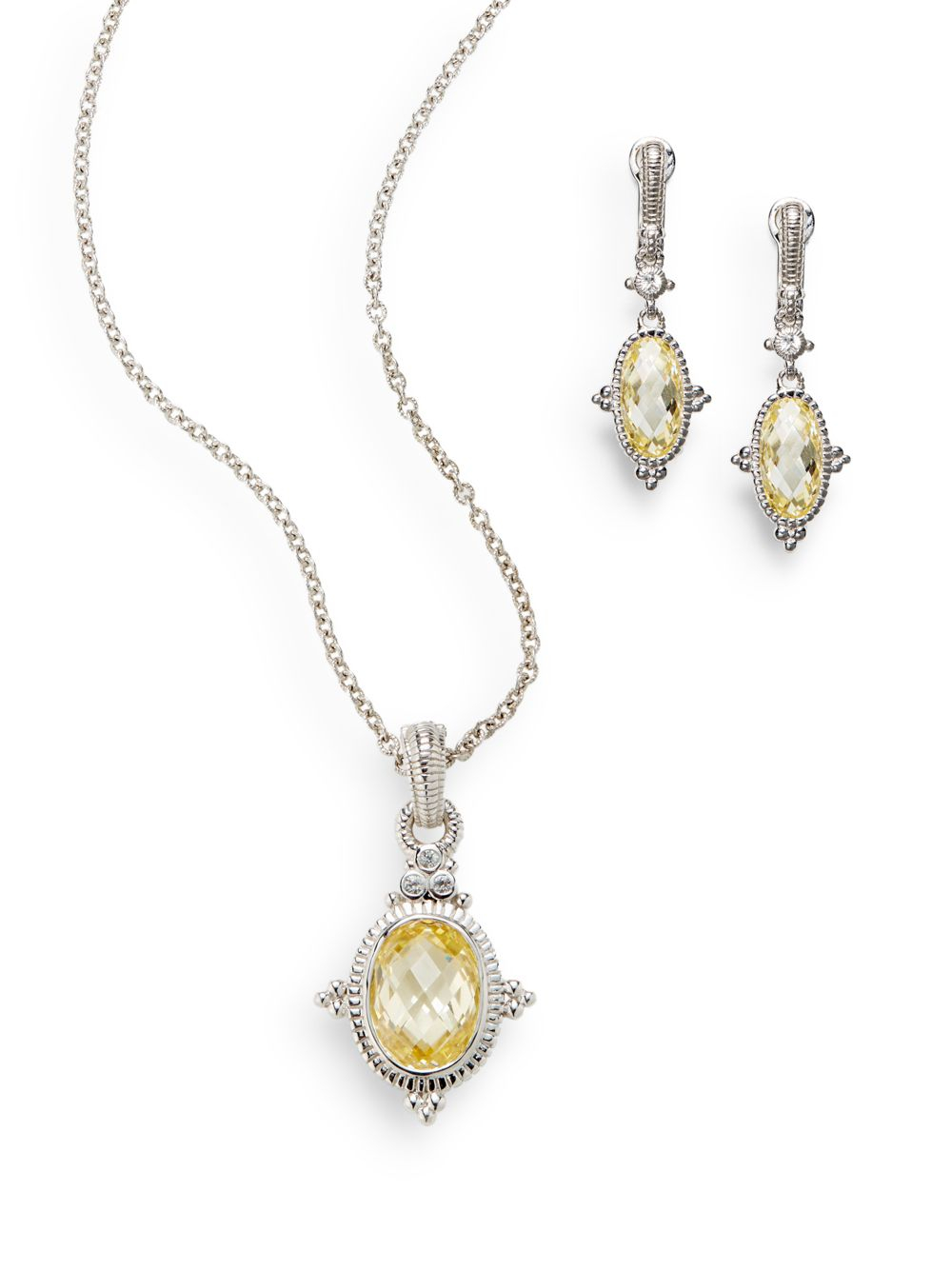 Lyst Judith Ripka Canary Crystal White Sapphire Sterling