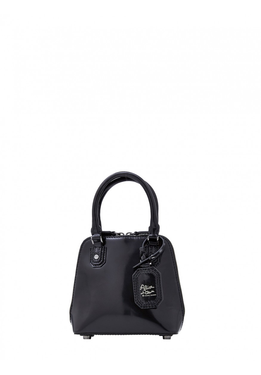 Alice + Olivia Mini Jackie Box Leather Bag in Black - Lyst