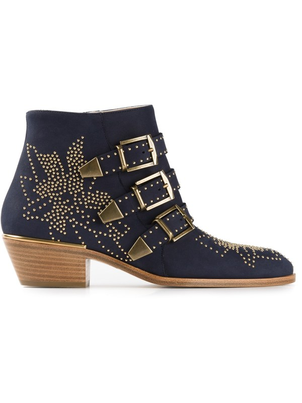 Lyst - Chlo Susanna Ankle Boot In Blue