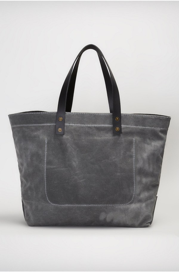 True Religion Coated Canvas Tote In Gray Lyst