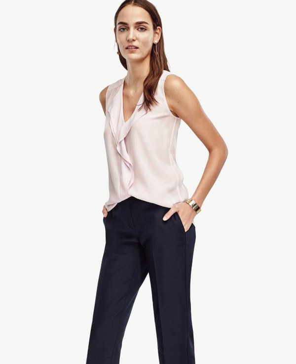 Ann Taylor Petite Kate Ankle Pants In Blue Lyst