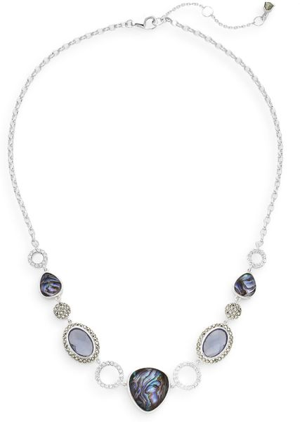 Judith Jack Abalone, Marcasite & Sterling Silver Necklace