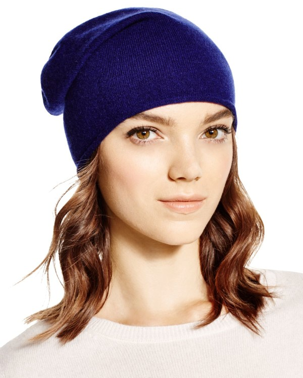 Bloomingdale' Cashmere Angelina Slouchy Hat In Blue