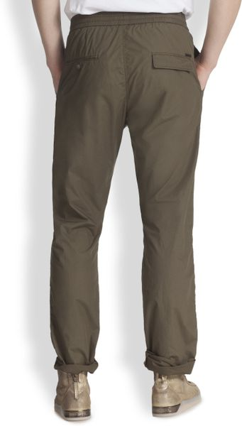 Diesel Cotton Drawstring Pants in Green for Men  Lyst