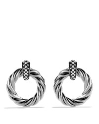 Lyst - David Yurman Cable Classics Earrings With Diamonds ...