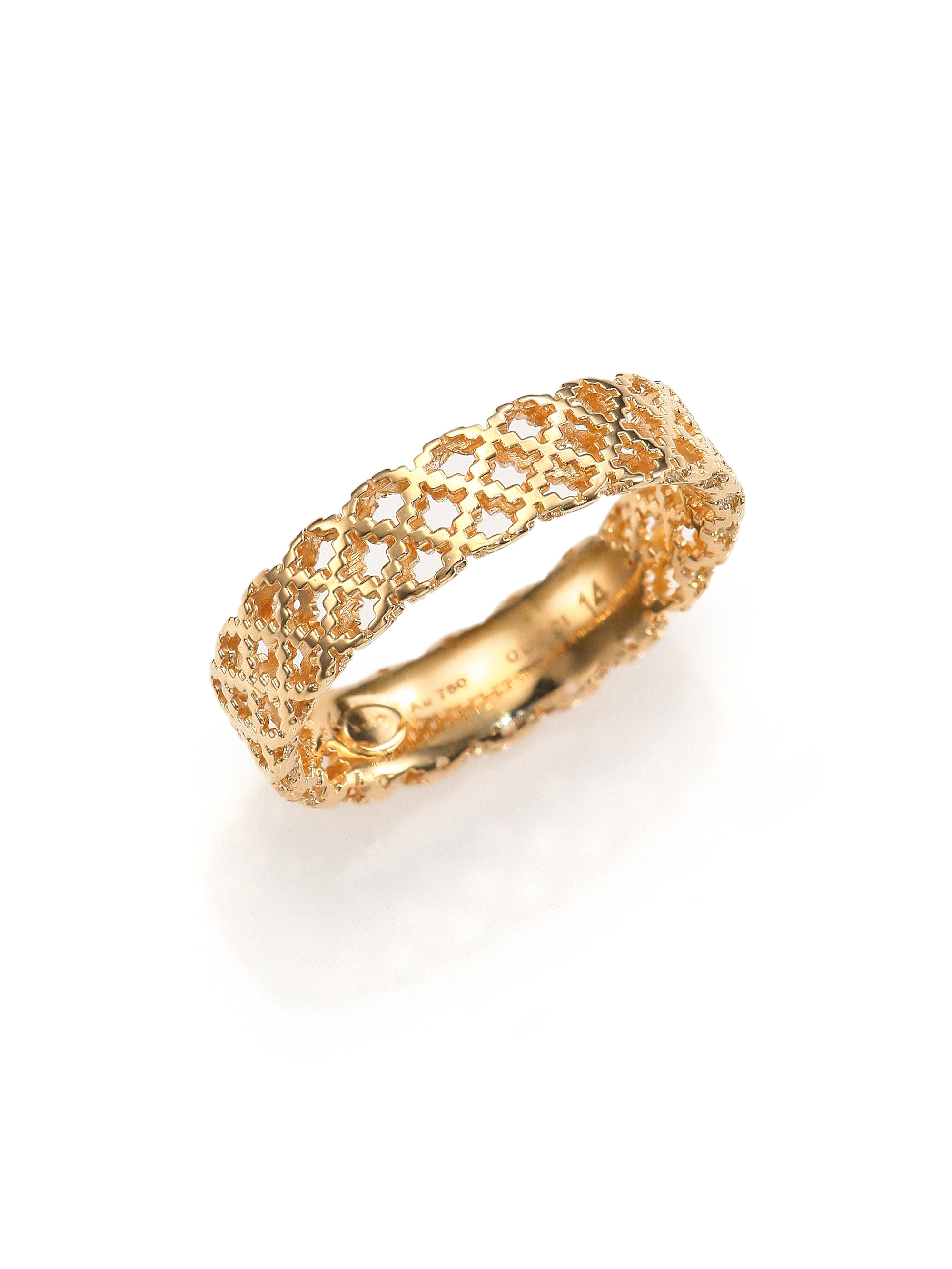Gucci Diamantissima 18K Yellow Gold Band Ring in Metallic  Lyst