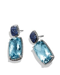 Lyst - David yurman Chatelaine Drop Earrings with Blue ...