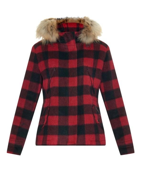 Lyst - Woolrich Plaid Lumberjack Wool Jacket In Red