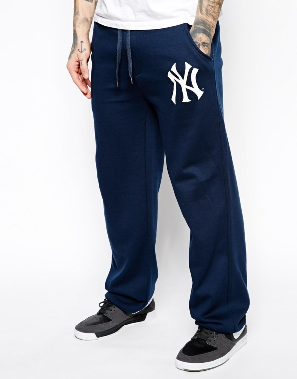 Majestic Ny Yankees Straight Fit Sweatpants In Blue Men Lyst