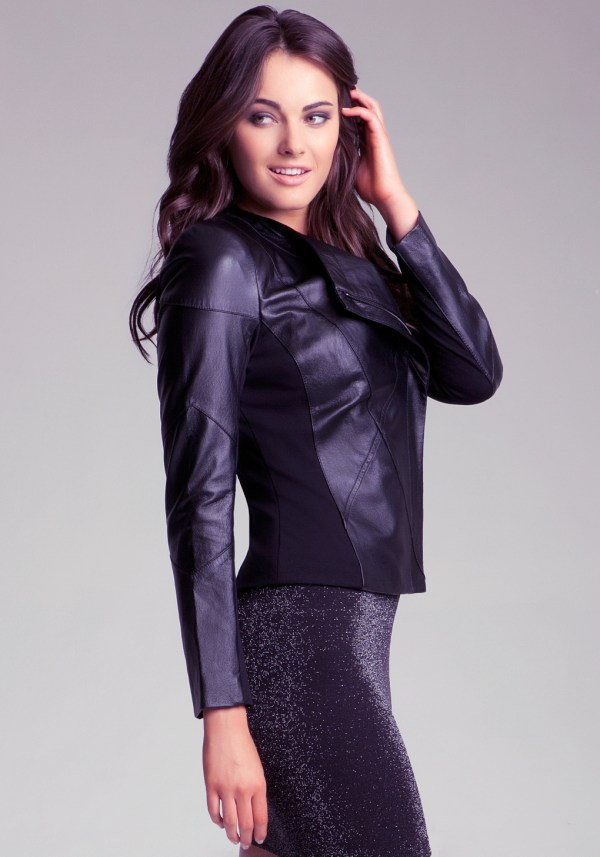 Bebe Chris Leather Jacket In Black Lyst