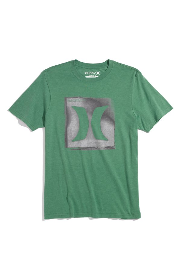 Hurley Regular Fit Screenprint T-shirt In Green Men