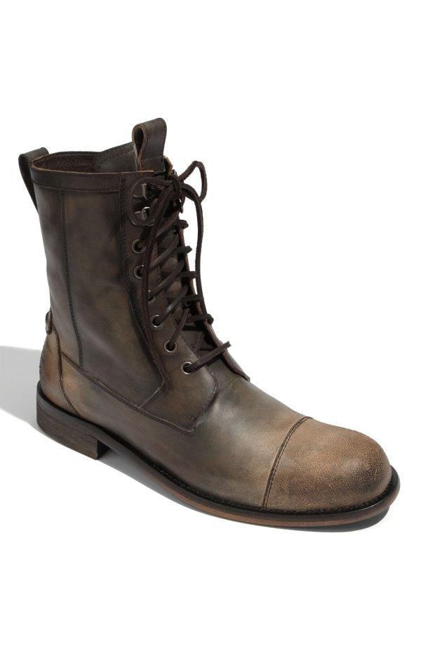 John Varvatos Strummer Combat Boot In Brown Men Black