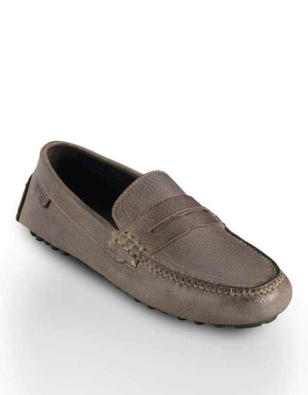 Cole Haan Air Grant Leather Penny Loafers In Brown Men Taupe Lyst