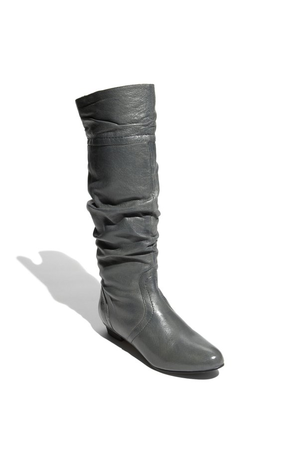 Steve Madden Womens Candence Boot In Gray Stone Leather Lyst