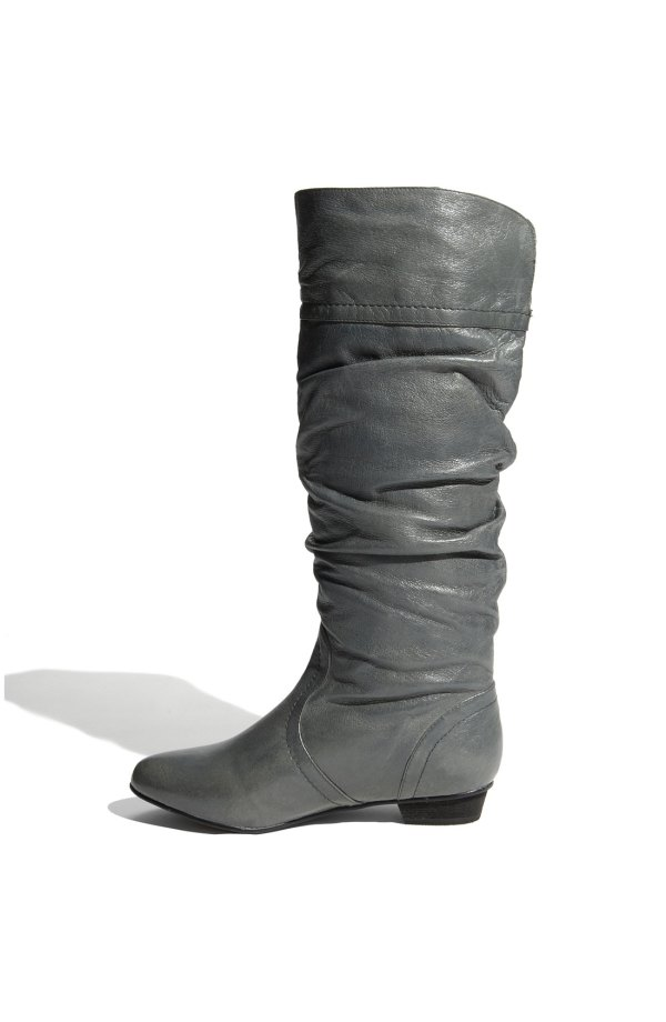 Steve Madden Joanie Platform Ankle Boots - Grey Suede In Gray Stone Leather Lyst