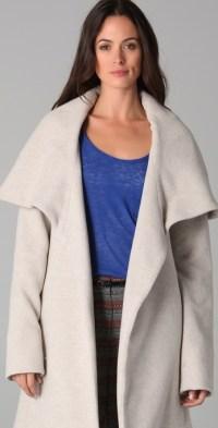 Lyst - Mara Hoffman Shawl Coat in Natural