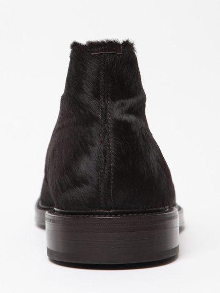 Raf Simons Horse Hair Desert Boot In Brown For Men Desert