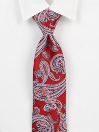Saks Fifth Avenue Paisley Silk Tie in Red for Men | Lyst
