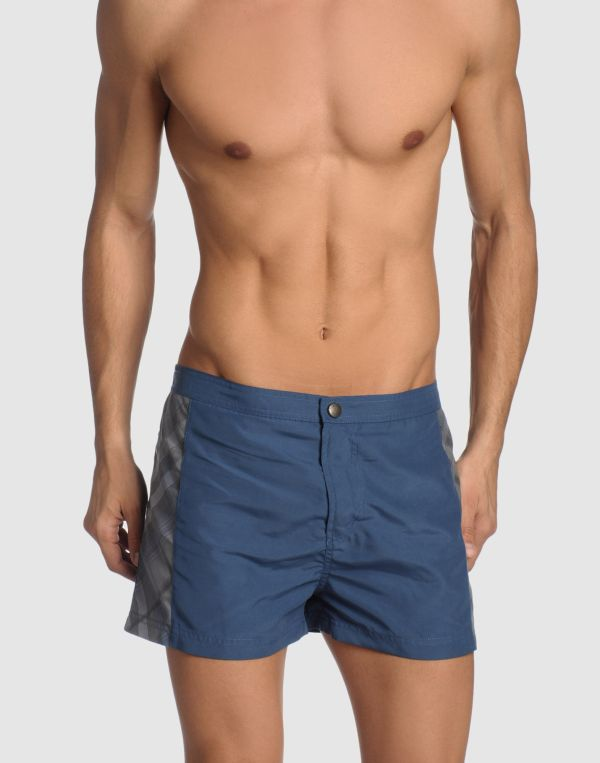 Burberry Brit Swimming Trunks In Blue Men Red Lyst
