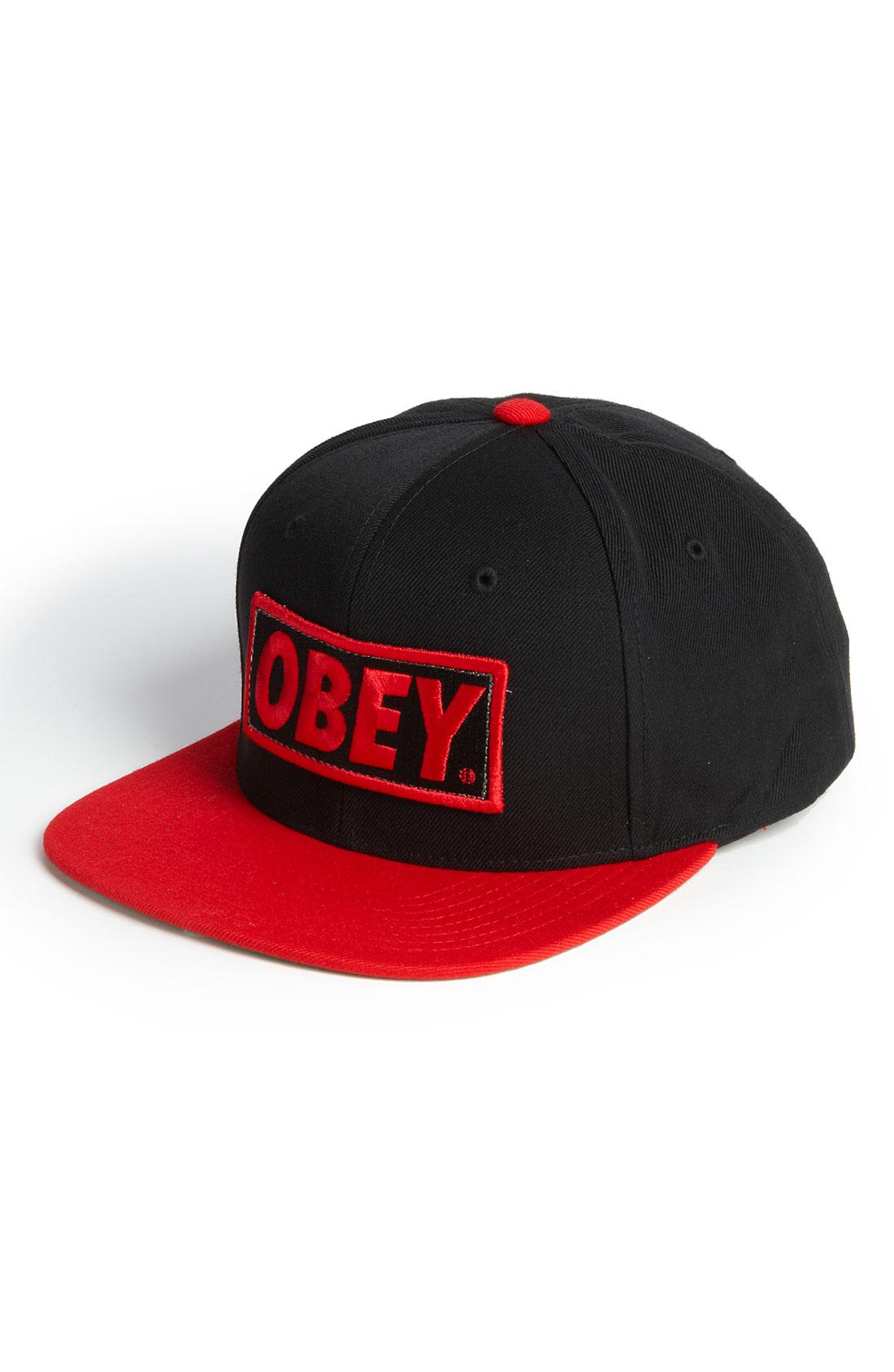 ... closeout original black obey snapback hat 7e1a6 36f3d b475bca1064