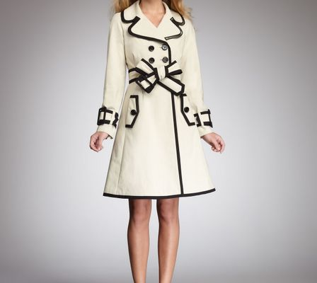 Kate Spade Topliner Two-tone Trenchcoat