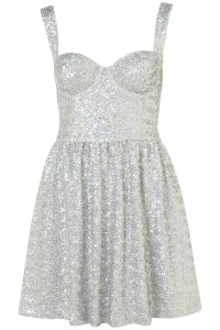 Topshop Disco Sequin Prom Dress in Gray | Lyst