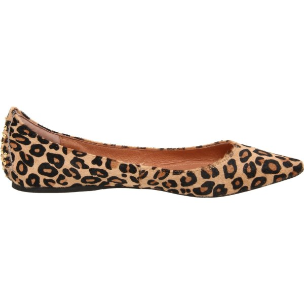 Steven Steve Madden Eternnal Pointed Toe Flat In Animal