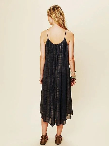 Free People Mirage Print Shapeless Gale Dress in Purple