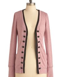 ModCloth Fine and Dandelion Cardigan in Pink