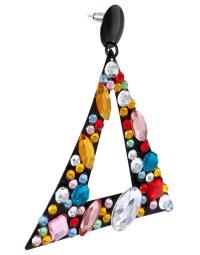 Asos Jewelled Triangle Doorknocker Earrings | Lyst