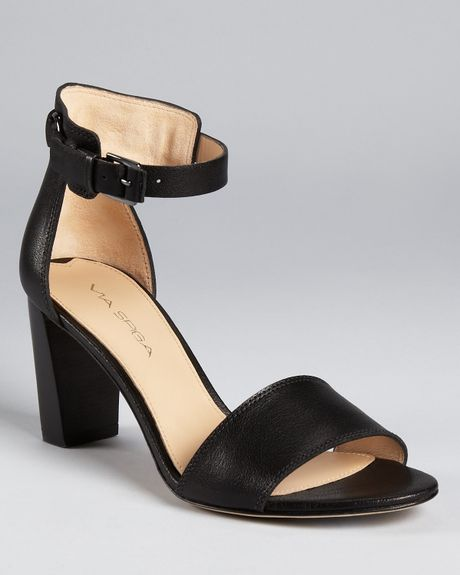 Via Spiga Christina City Sandals  in Black
