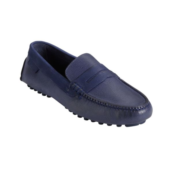 Cole Haan Air Grant Penny Driving Moccasins In Blue Men Peacoat Grain Navy Lyst