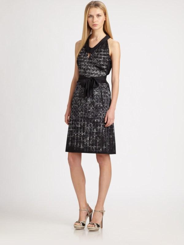 Elie Tahari Belinda Dress In Black Lyst